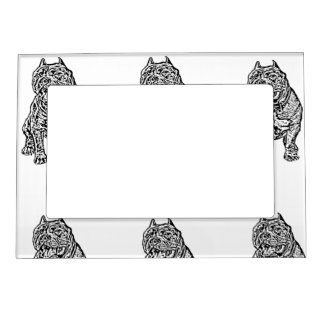 American Bully Dog Picture Frame Magnet