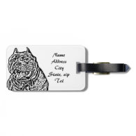 American Bully Dog Tags For Bags