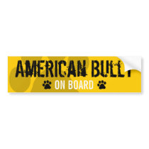 American Bully on Board Bumper Sticker