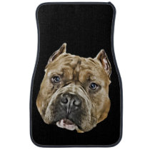 American Bully pitbull dog car mats