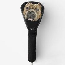 American Bully pitbull dog monogrammed Golf Head Cover