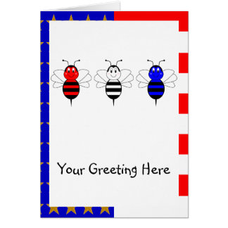American Bumble Bees Greeting Card
