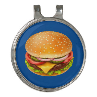American Burger Golf Hat Clip and Ball Marker