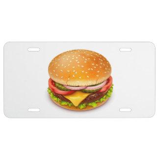 American Burger License Plate