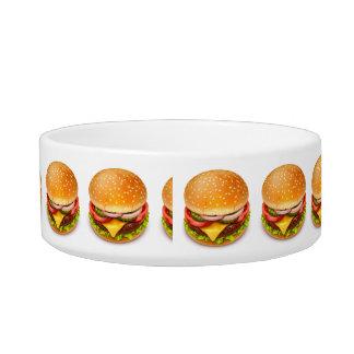 American Burger Medium Pet Bowl