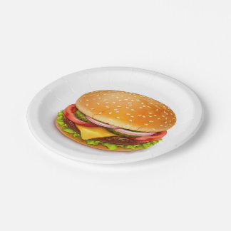 American Burger Paper Plates 7 Inch Paper Plate