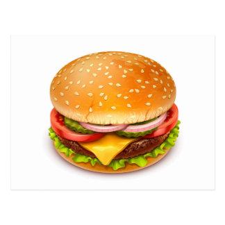 American Burger Postcard