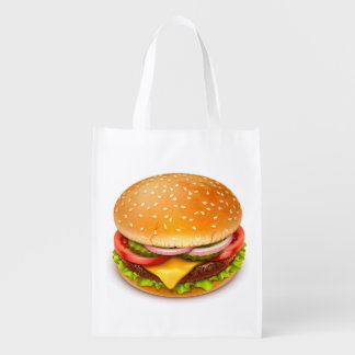 American Burger Reusable Grocery Bag
