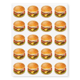 American Burger Temporary Tattoos