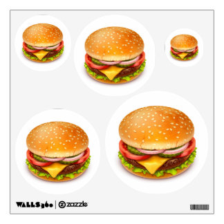American Burger Wall Decals