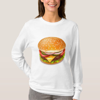 American Burger White Long Sleeve T-Shirt