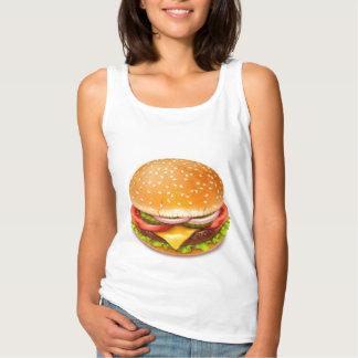 American Burger White Tank Top
