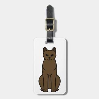 American Burmese Cat Cartoon Bag Tag