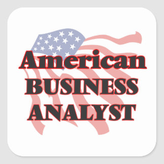 American Business Analyst Square Sticker
