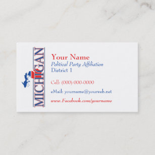 State of michigan business cards templates zazzle american business cards michigan colourmoves