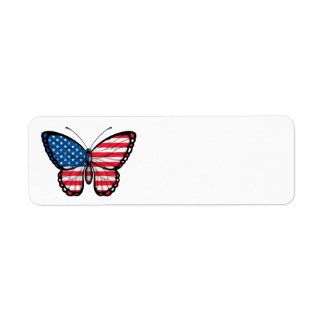 American Butterfly Flag Label