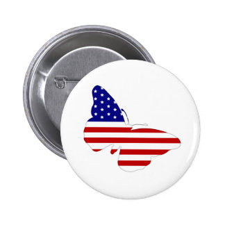 American Butterfly Pinback Button
