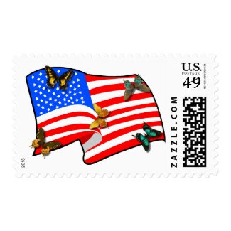 American Butterflys Postage Stamp