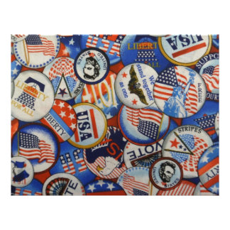 American Buttons Vote and Liberty Scrapbooking Letterhead Template