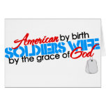 American by birth greeting cards