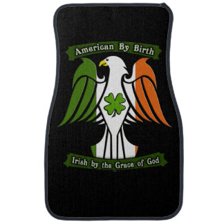American by Birth, Irish by the Grace of God Eagle Floor Mat