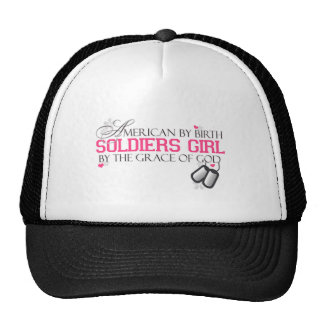 American By Birth - Soldiers Girl Trucker Hat