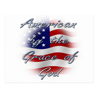 American by the Grace of God Postcard