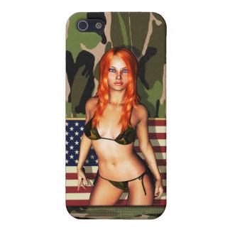 American Camo Bikini Babe iPhone SE/5/5s Cover