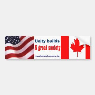 American canadian bumper sticker