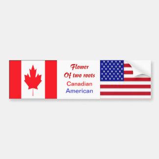 American-canadian bumper stickers