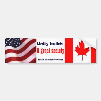 american canadian car bumper sticker