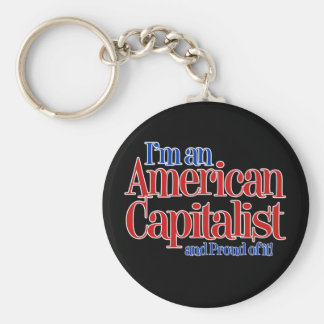 American Capitalist... and proud of it. Keychain