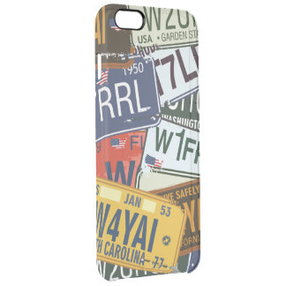 American  Car Licence Plates Clear iPhone 6 Plus Case