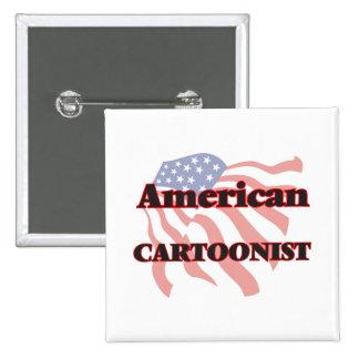 American Cartoonist 2 Inch Square Button