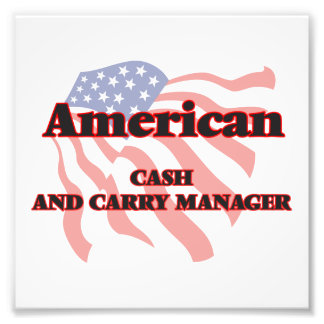 American Cash And Carry Manager Photo Print