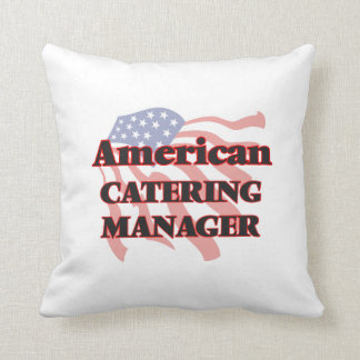 American Catering Manager Throw Pillows