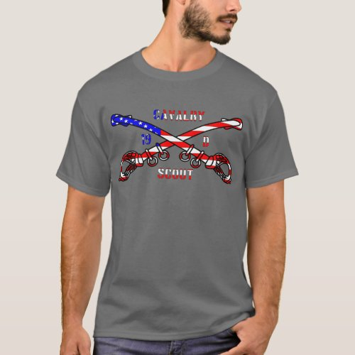 American Cavalry Mens Basic Dark T_Shirt