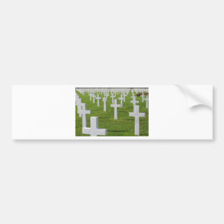 American Cemetery at Normandy Bumper Sticker