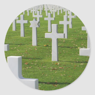 American Cemetery at Normandy Classic Round Sticker