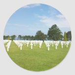 American Cemetery in France Round Stickers