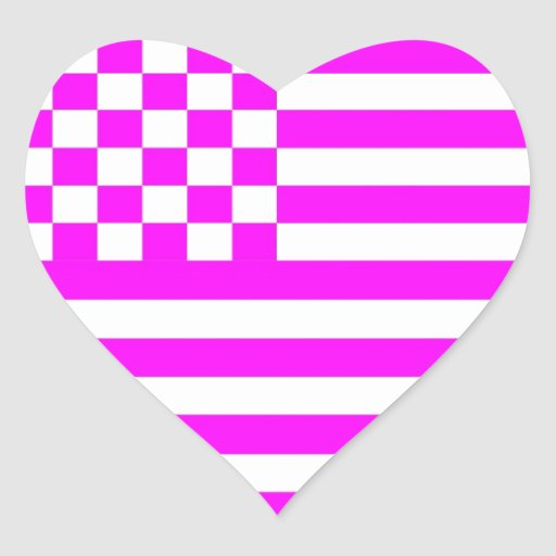 American Checkered Flag 1 G Heart Sticker