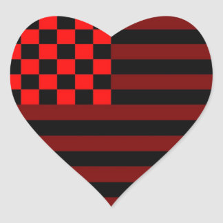 American Checkered Flag 1 IUR Heart Sticker