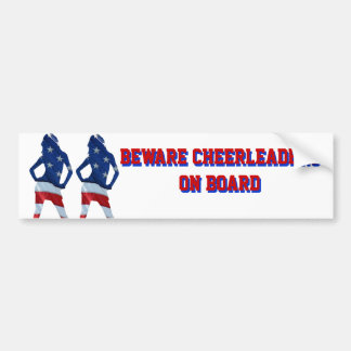 American cheerleader on any color bumper sticker
