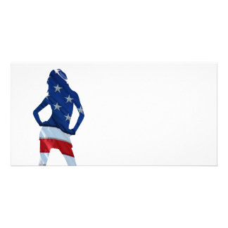 American cheerleader on any color card