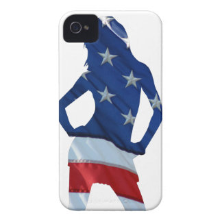 American cheerleader on any color Case-Mate iPhone 4 case