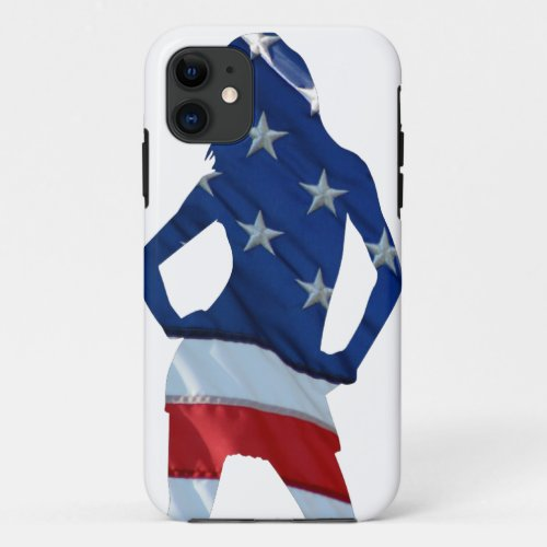 American cheerleader on any color Phone Case