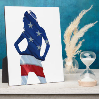 American cheerleader on any color plaque
