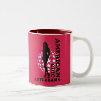 AMERICAN CHIC - ANTI OBAMA - 001 Two-Tone COFFEE MUG