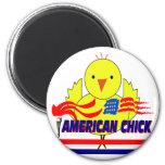 American Chick Fridge Magnets