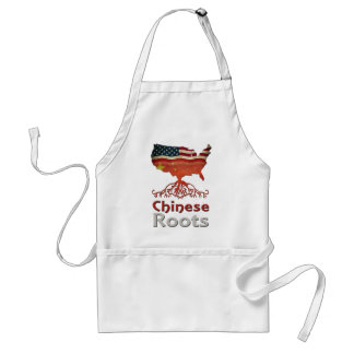 American Chinese Roots Adult Apron